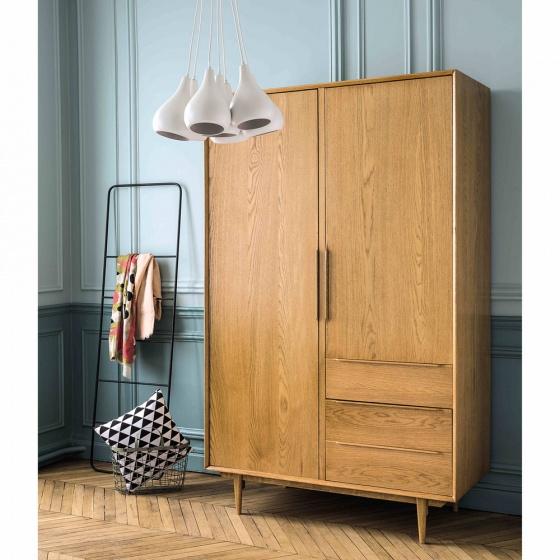 Tủ quần áo Portobello gỗ tự nhiên 1m4 - Cozino