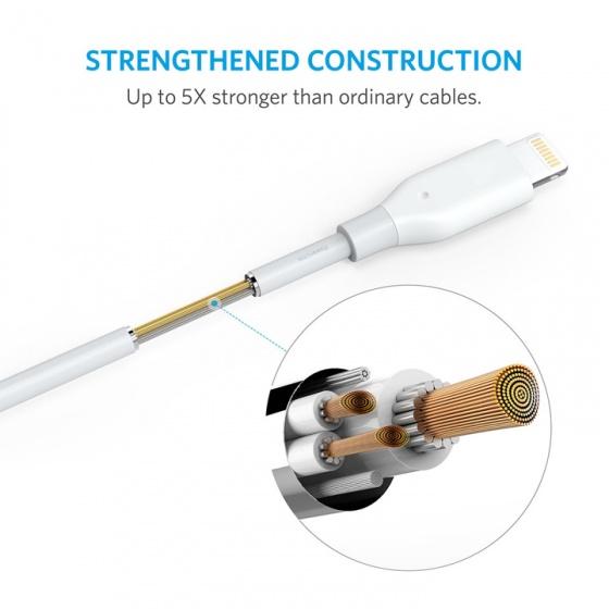 Cáp lightning Anker Powerline - dài 1.8m - A8112
