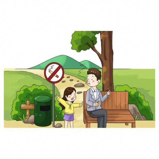 Tranh minh họa biển cấm hút thuốc TMN-169