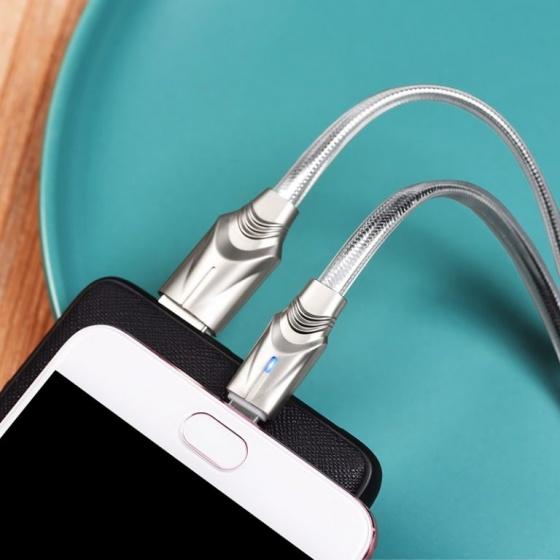 Cáp sạc truyền dữ liệu Borofone BU12, có đèn Led báo sạc, 1.2m cổng Micro