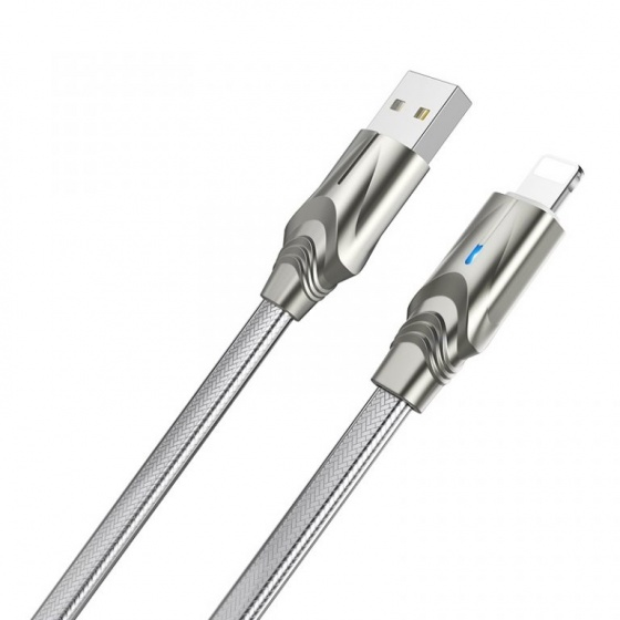 Cáp sạc truyền dữ liệu Borofone BU12, có đèn Led báo sạc, 1.2m cổng Lightning