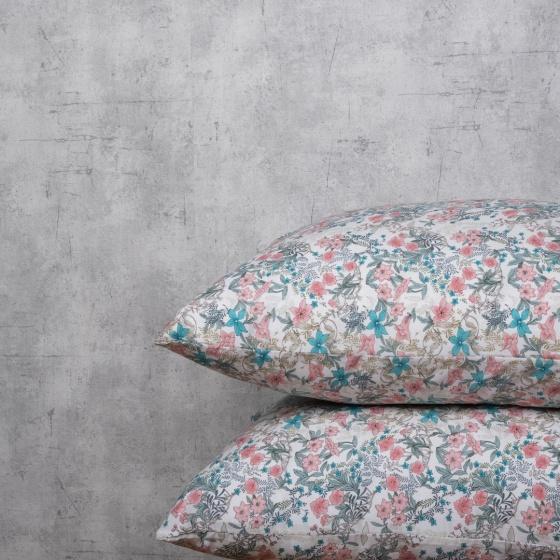 Bộ chăn drap lụa modal Hàn Quốc 5 món Gorgeous Blossom 02 1m8x2m