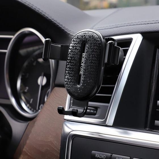Giá đỡ điện thoại xe hơi Borofone BH11, xoay, cửa thoát khí