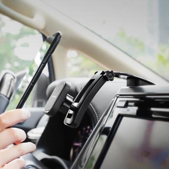 Giá đỡ điện thoại xe hơi từ tính Borofone BH17, xoay, gấp gọn