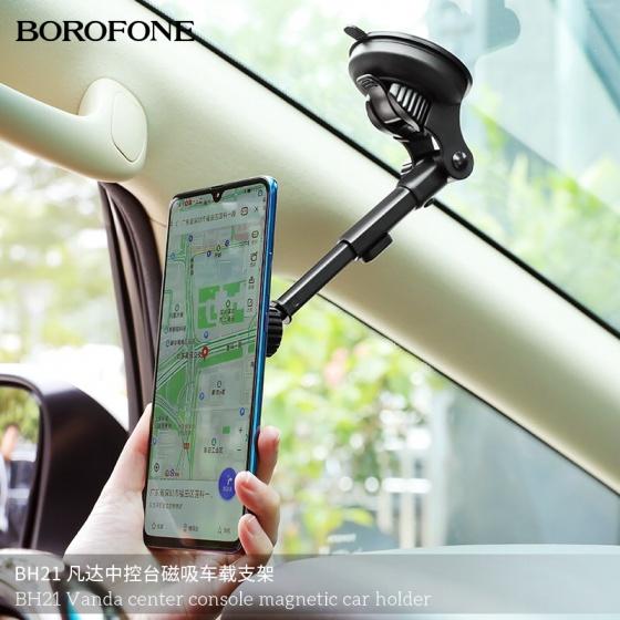 Giá đỡ điện thoại xe hơi nam châm Borofone BH21