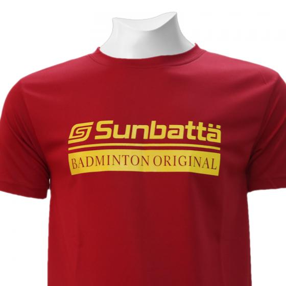 Áo thể thao cầu lông Sunbatta SMT 635 đỏ đô form training