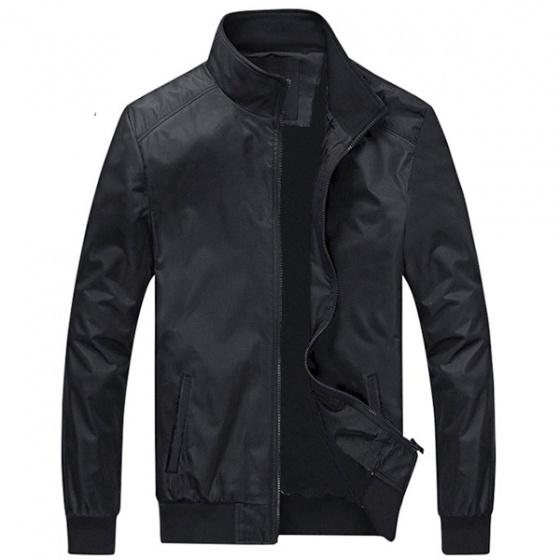 Áo khoác dù nam siêu nhẹ phối 2 túi 2 bên có khóa kéo và túi bên trong áo Dokafashion màu đen - DNHE02
