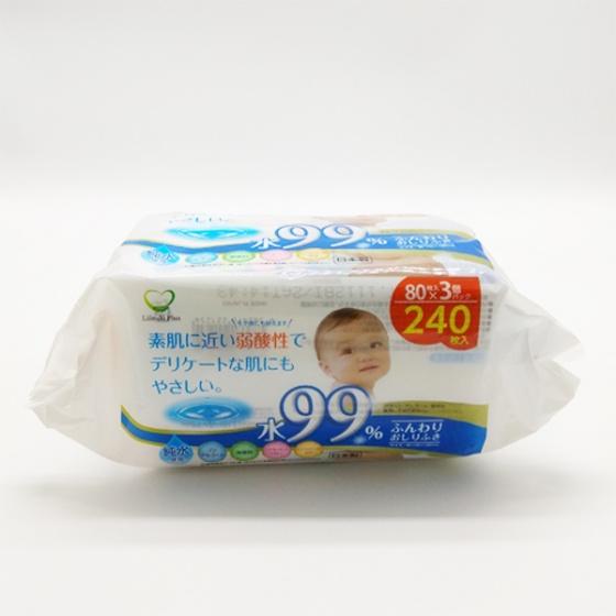 Sét 3 gói giấy ướt an toàn cho bé nhập khẩu Nhật Bản