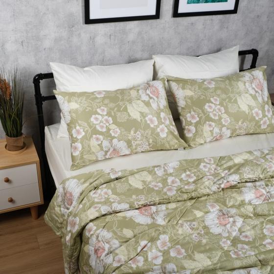 Bộ chăn drap cotton satin Hàn Quốc 5 món Elegant Floral 05 1m6x2m