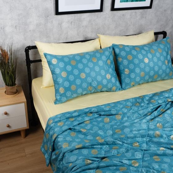 Bộ chăn drap cotton satin Hàn Quốc 5 món Lux. Pattern 05 1m8x2m