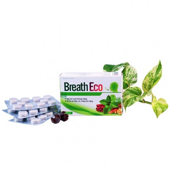Combo 2 hộp viên ngậm thảo dược Breath Eco chống hôi miệng từ bên trong cơ thể [QC-Vneshop]