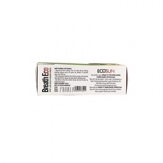 Combo 3 hộp viên ngậm thảo dược Breath Eco chống hôi miệng từ bên trong cơ thể [QC-Vneshop]