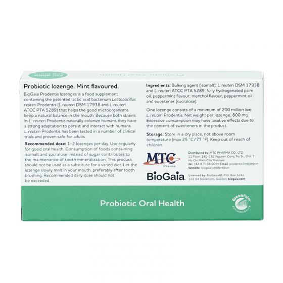 Viên ngậm men vi sinh nha khoa BioGaia ProDentis - cân bằng khoang miệng, loại bỏ vi khuẩn, mảng bám [QC-Vneshop]