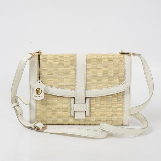 Túi cói thời trang màu trắng Nord108