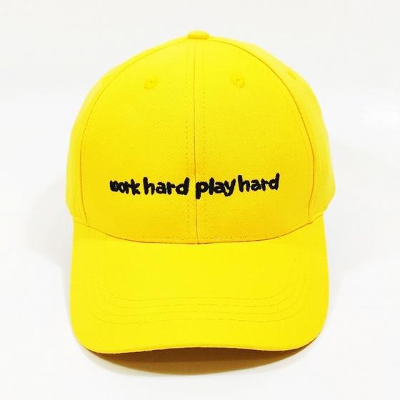Nón kết, mũ lưỡi trai kaki nam nữ work hard play hard NON0235 Lorganic