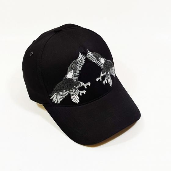 Nón kết, mũ lưỡi trai kaki nam nữ cá tính thêu hình chim đại bàng NON0237 Lorganic