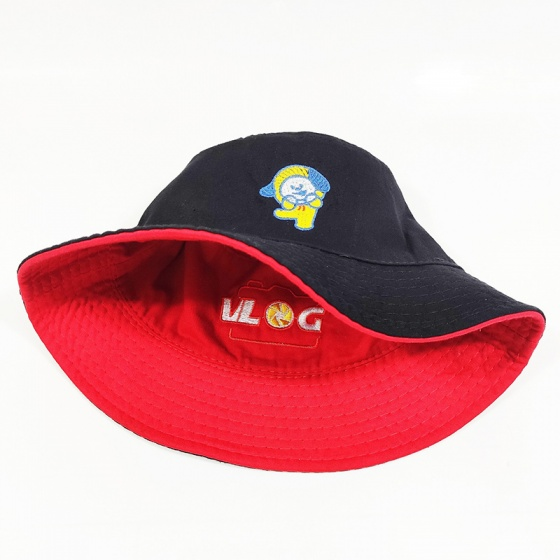 Nón, mũ bucket 2 mặt vlog NON0413
