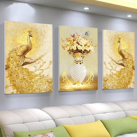 Tranh treo tường chim công TNT361