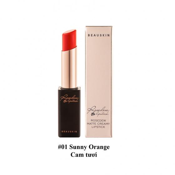 Son lì Beauskin Rosedew Matte Creamy Lipstick 01