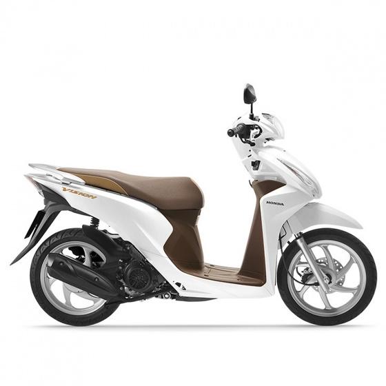 Xe máy Honda Vision 2019 bản cao cấp Smartkey - trắng nâu đen