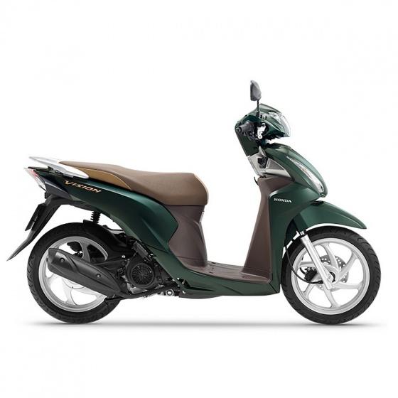 Xe máy Honda Vision 2019 bản cao cấp Smartkey - xanh lá