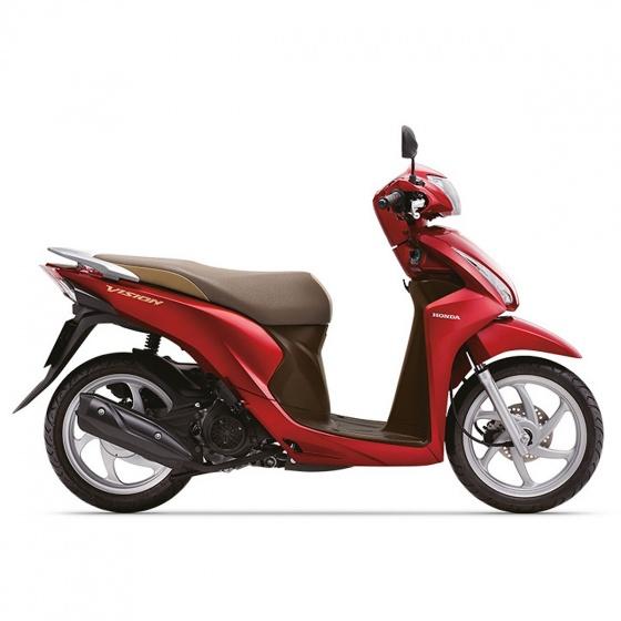Xe máy Honda Vision 2019 bản cao cấp Smartkey - đỏ nâu đen