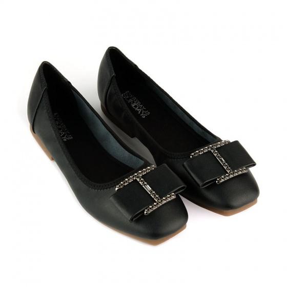 Giày búp bê êm chân Sunday BB38 đen