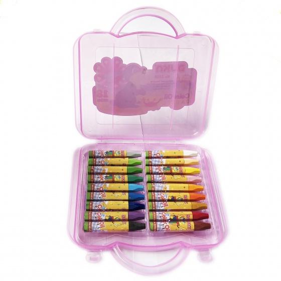 Bút sáp dầu 18 màu - hộp nhựa
