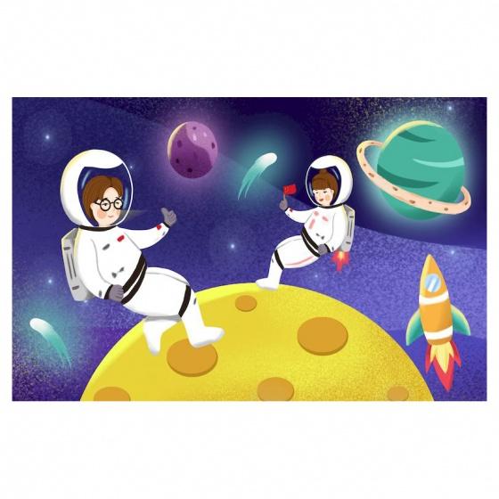 Decal thiếu nhi khám phá vũ trụ TMN-52