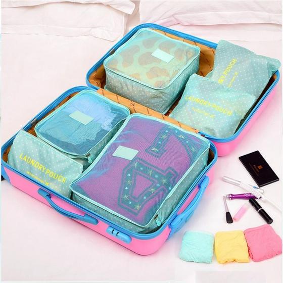 Combo 6 túi đựng đồ du lịch để trong vali (màu ngẫu nhiên)
