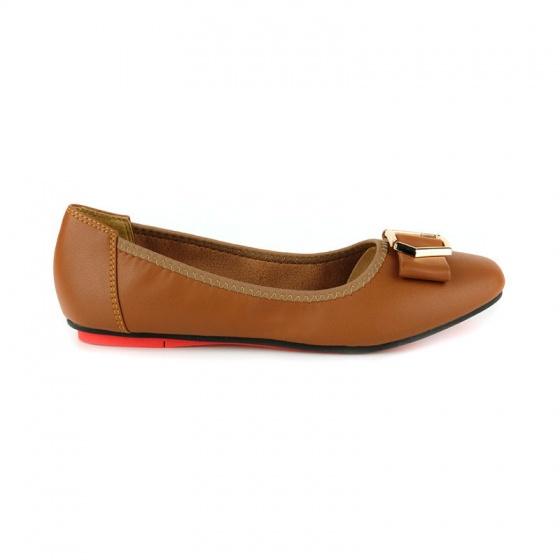 Giày búp bê êm chân Sunday BB41 nâu đậm
