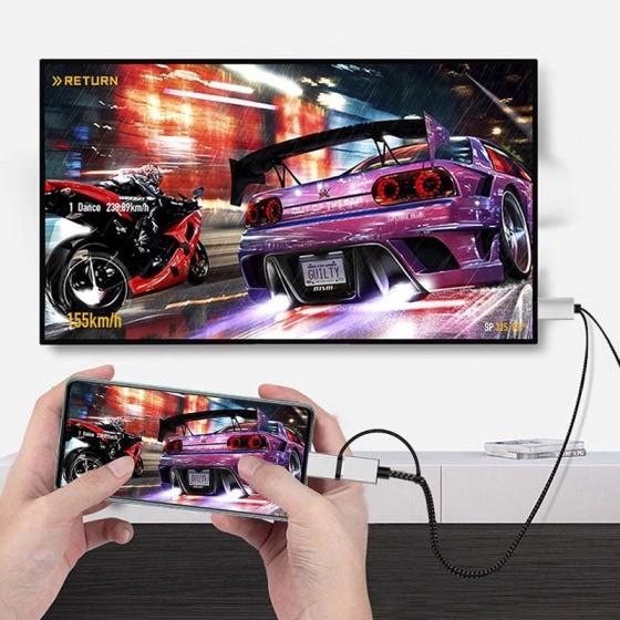 Cáp chuyển đổi hiển thị HDMI cho điện thoại Android đầu Type C, Micro Aturos H8C