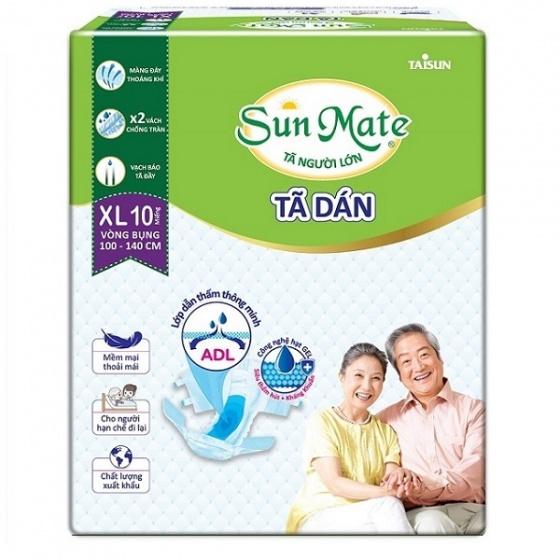 Combo 8 gói tã dán người lớn Sunmate size XL10