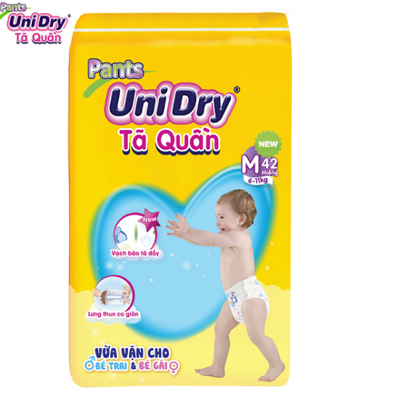 Tặng 1 gel tửa tay sạch khuẩn - Combo 2 gói tã quần Unidry size M42 - size L38 - size XL34