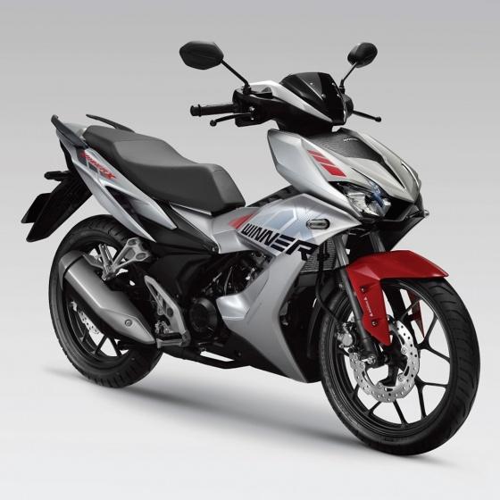Xe máy Honda Winner X - phiên bản thể thao (bạc đỏ đen)
