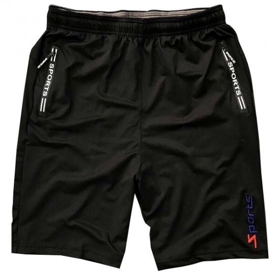 Combo 2 quần short thể thao nam phối dây kéo lưng thun bản rộng màu đen trắng  - SOT03