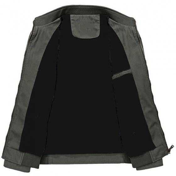Áo khoác kaki nam cao cấp dáng áo đứng thêu logo hiệu dokafashion NTHUE 01 có 03 màu kem, xanh đen, xanh rêu