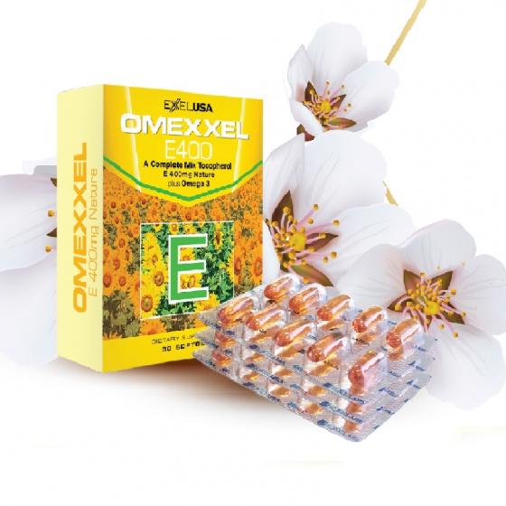 Viên uống bổ sung Vitamin E giúp đẹp da,chống lão hóa Omexxel E400 (30 viên) - Xuất xứ Mỹ