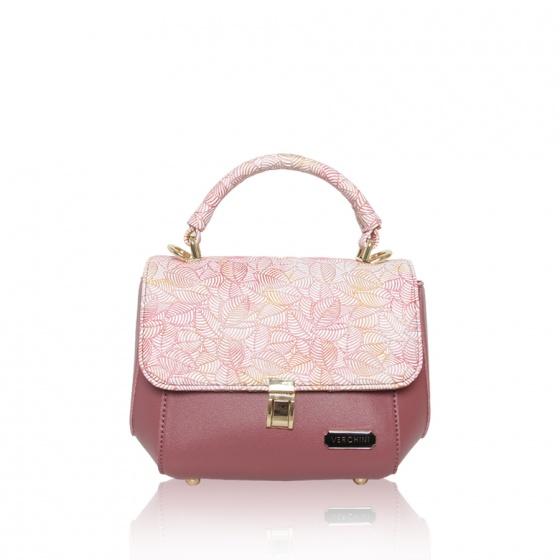 Túi thời trang Verchini màu hồng ruốc lá