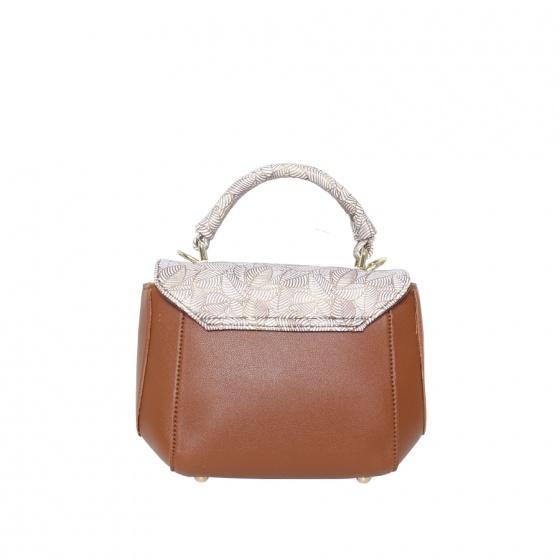 Túi thời trang Verchini màu bò đậm lá 02004003