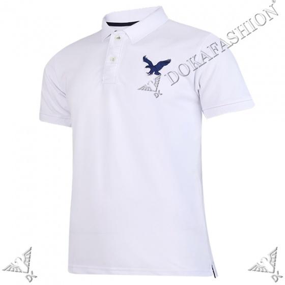 Áo phông nam có cổ polo dokafashion logo thêu sắc xảo BLACK DB307 (được chọn màu)
