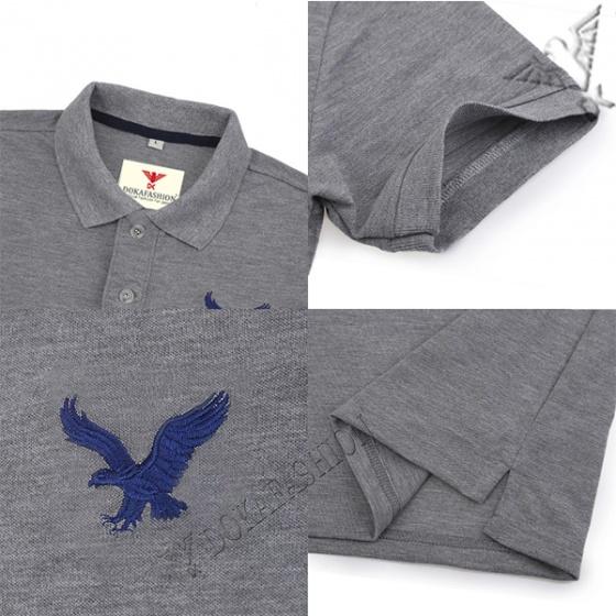 Áo phông nam có cổ polo dokafashion logo thêu sắc xảo BLACK DB307 (được chọn màu tặng 1 quần lót nam)