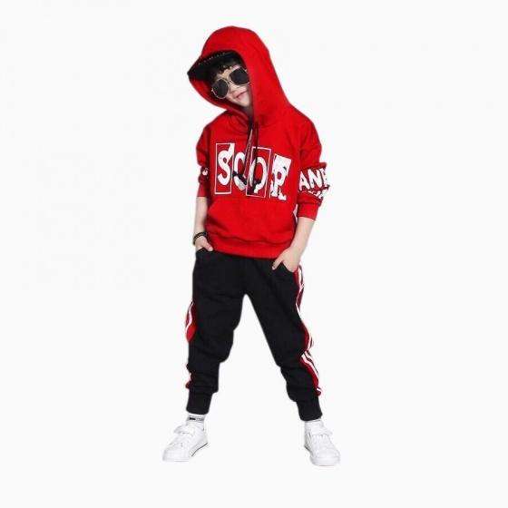 Đồ bộ thể thao Scor kiểu dáng Hip Hop Vinakids màu đỏ (3-10 tuổi)