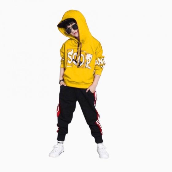 Đồ bộ thể thao Scor kiểu dáng Hip Hop Vinakids màu vàng (3-10 tuổi)