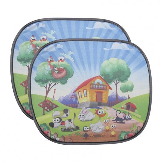 Che nắng ô tô tròn nhỏ NB LX-C031 hình nông trại