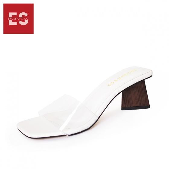 Dép nữ, dép cao gót vuông mules Erosska cao 5cm EM025 (NU)