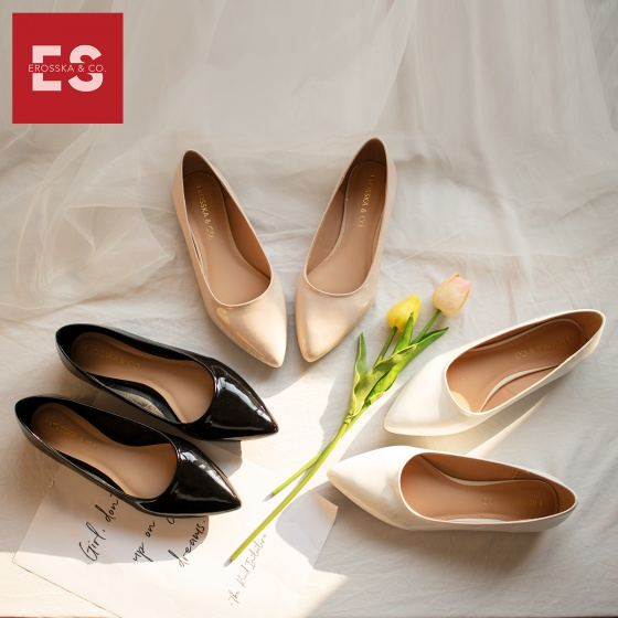 Giày nữ, giày búp bê Erosska đế bệt thời trang nữ cao 2cm EF001 (màu nude)