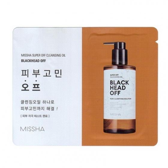 Combe 5 gói mini dầu tẩy trang Missha Super Off Cleansing Oil (Blackhead Off) 3g