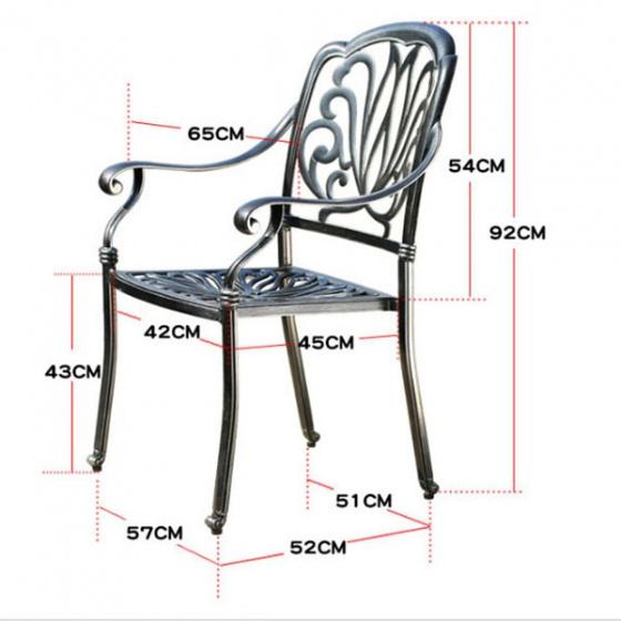 Bộ bàn ghế ngoài trời sang trọng BG-03TM