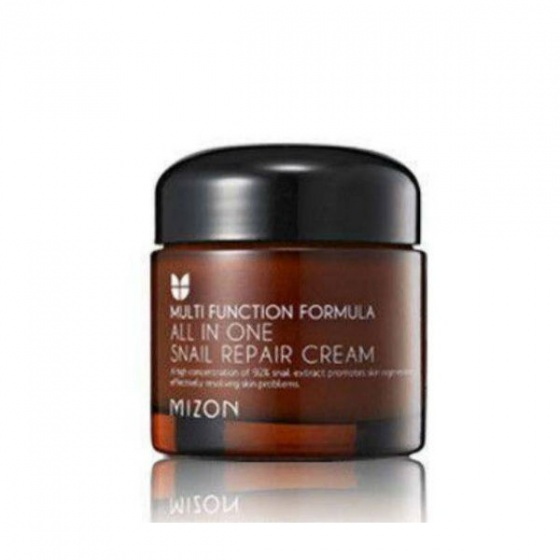 Kem dưỡng ẩm phục hồi da chiết xuất chất nhờn ốc sên Mizon All In One Snail Repair Cream 75ml